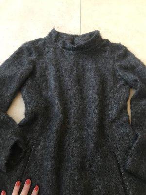 René Lezard Vestido de lana marrón oscuro