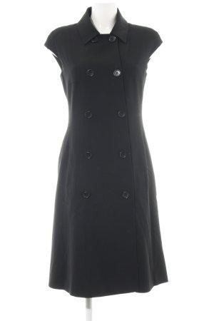 René Lezard Robe manteau noir style décontracté