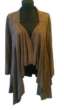 René Lezard Leather Vest bronze-colored leather