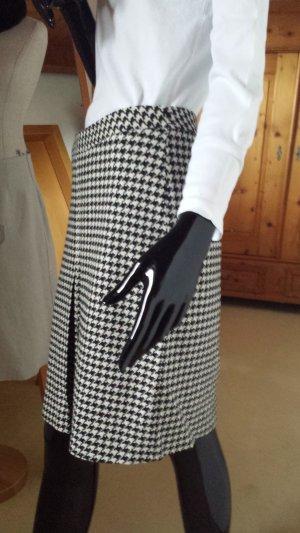 René Lezard Wollen rok wit-zwart Wol