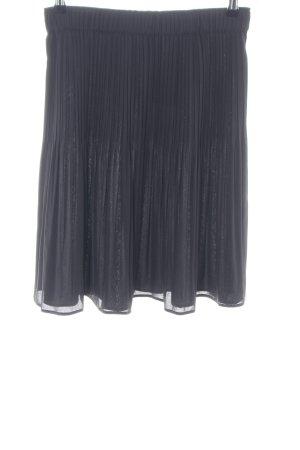 René Lezard Jupe plissée noir motif rayé style d'affaires