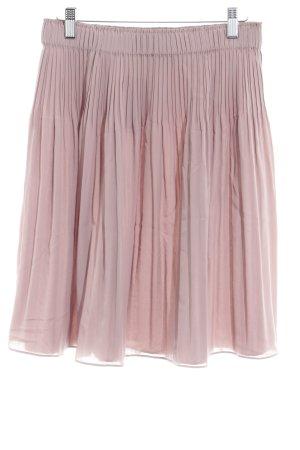 René Lezard Pleated Skirt light brown simple style
