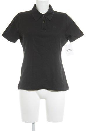 René Lezard Polo-Shirt schwarz Casual-Look