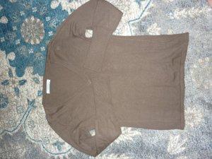 RENÉ LEZARD Pullover mit V-Ausschnitt, braun, Größe S