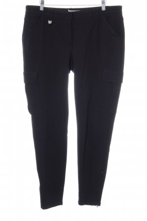 René Lezard Drainpipe Trousers black casual look