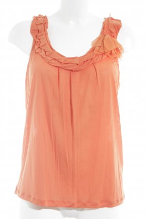 René Lezard Frill Top orange romantic style
