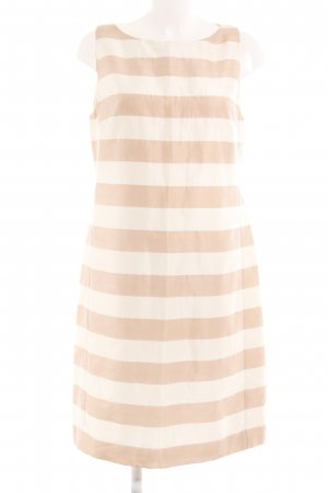 René Lezard Tube Dress cream-pink striped pattern business style