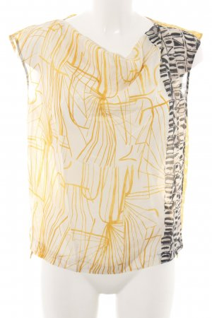 René Lezard Schlupf-Bluse abstraktes Muster Casual-Look