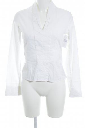 René Lezard Slip-over blouse wit zakelijke stijl