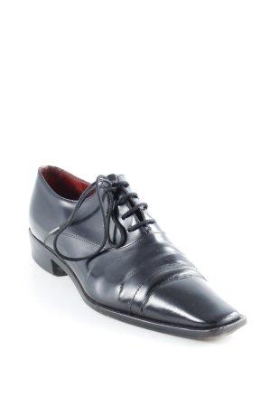 René Lezard Chaussures à lacets noir style d'affaires