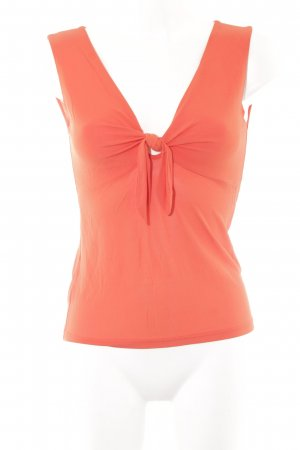 René Lezard Off the shoulder top neonoranje casual uitstraling