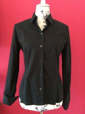 René Lezard schwarze Bluse