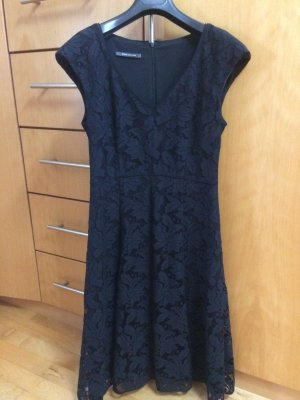René Lezard Lace Dress black