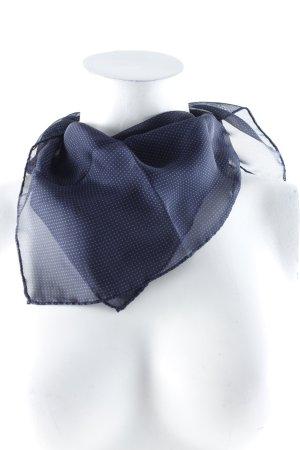 René Lezard Seidentuch dunkelblau-graublau Punktemuster schlichter Stil