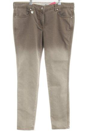 René Lezard Skinny Jeans braun-wollweiß Farbverlauf Casual-Look