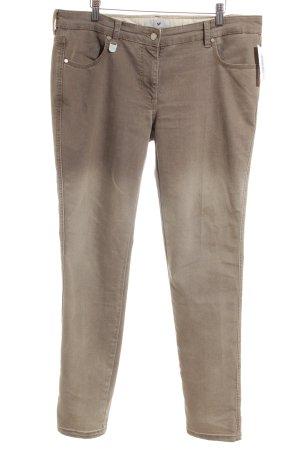 René Lezard Slim Jeans hellbraun Casual-Look