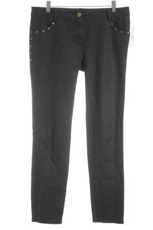 René Lezard Slim Jeans schwarz Casual-Look