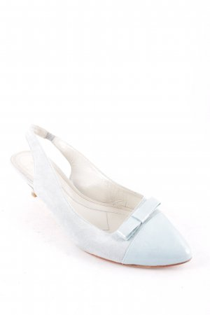 René Lezard Slingback-Pumps babyblau Elegant