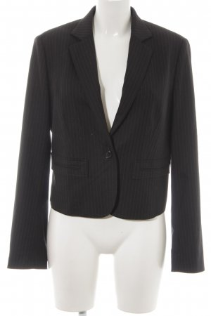 René Lezard Tuxedo Blazer black-light grey pinstripe business style