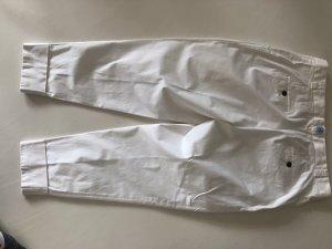 René Lezard Pantalon à pinces blanc