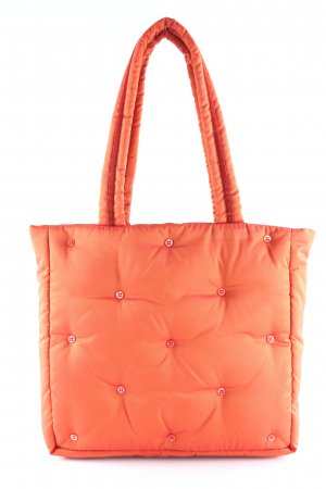 René Lezard Stofftasche orange Steppmuster Casual-Look