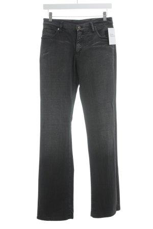 René Lezard Jeans coupe-droite gris anthracite style simple