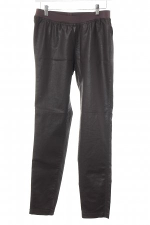 René Lezard Pantalon strech brun foncé-brun noir style décontracté