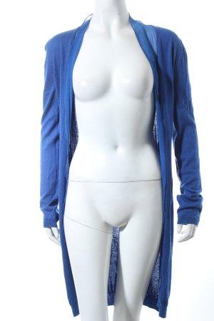 René Lezard Strick Cardigan blau Eleganz-Look