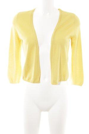 René Lezard Bolero lavorato a maglia giallo stile semplice