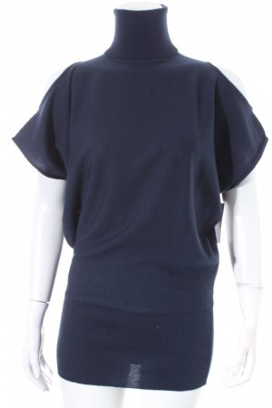 René Lezard Strickshirt dunkelblau Street-Fashion-Look