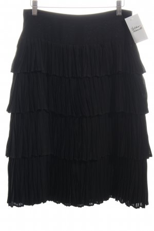 René Lezard Broomstick Skirt black casual look