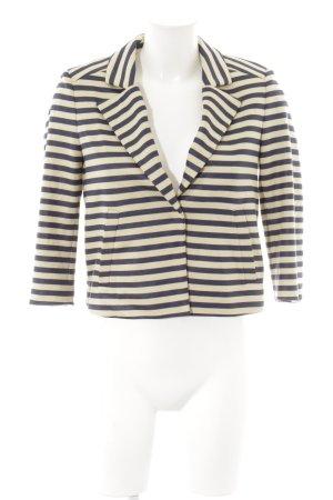 René Lezard Sweat Blazer cream-dark blue striped pattern casual look