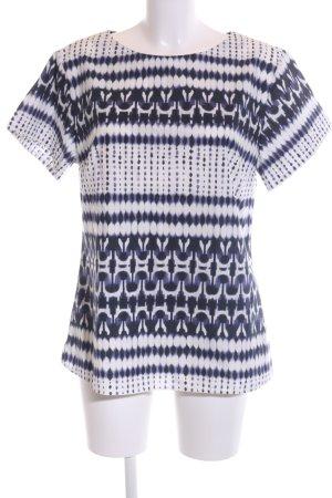 René Lezard T-Shirt lila-weiß Mustermix Casual-Look