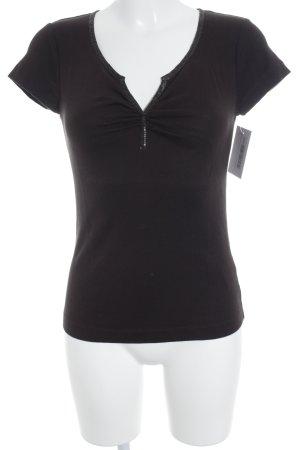 René Lezard T-Shirt braun Casual-Look