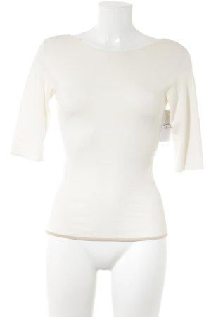 René Lezard T-Shirt creme schlichter Stil