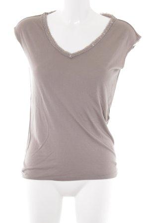 René Lezard T-Shirt graubraun Casual-Look