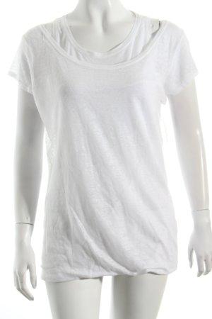 René Lezard T-Shirt weiß schlichter Stil