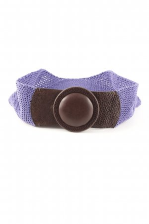 René Lezard Waist Belt lilac-brown casual look