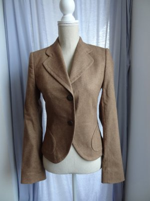 René Lezard Wool Blazer light brown