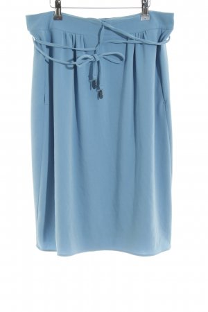 René Lezard Falda circular azul aciano estilo romántico