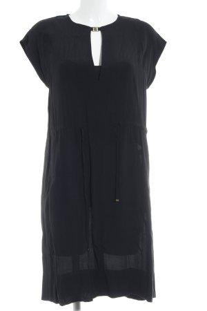 René Lezard Vestido tipo overol negro elegante