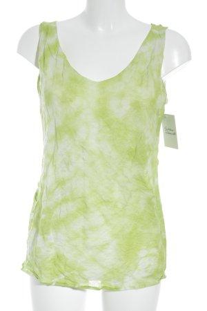 René Lezard Trägertop weiß-neongrün Farbverlauf Casual-Look