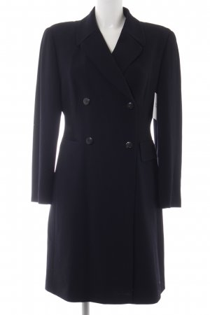 René Lezard Trench Coat dark blue business style