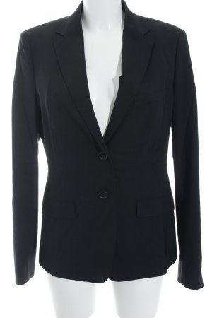 René Lezard Unisex-Blazer schwarz Business-Look