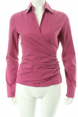 René Lezard Wickel-Bluse pink Casual-Look