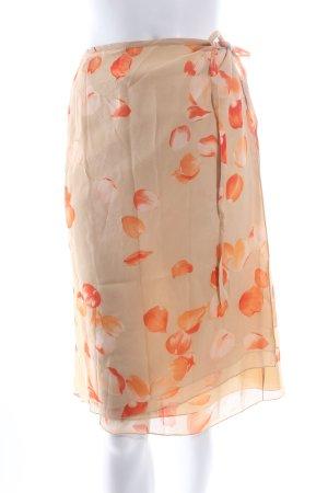 René Lezard Wickelrock apricot-creme florales Muster Nude-Look