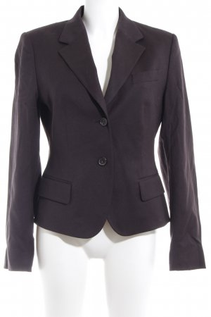 René Lezard Wool Blazer dark brown business style
