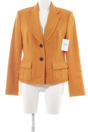 René Lezard Wool Blazer dark orange classic style