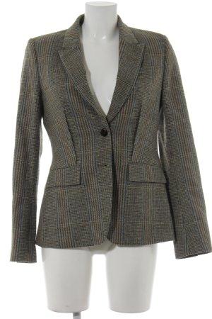 René Lezard Wool Blazer glen check pattern boyfriend style