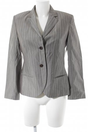 René Lezard Wool Blazer grey-nude pinstripe business style